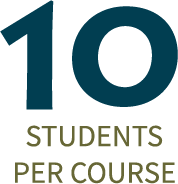SKC has 10 students per course on average.