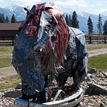 Beaver Head Bison - Salish Kootenai College Sculpture